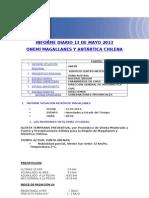 Informe Diario Onemi Magallanes 13.05.2013