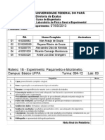 Relatório PAQUIMETRO E MICRÔMETRO