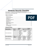 WindowsSecurityChecklist Group Policy