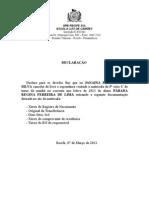 DECLARAÇÃO DE DEVOLUCAO DE DOCUMENTOS