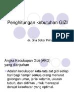 Penghitungan GIZI