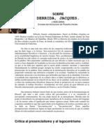 Derrida en El Diccionario Herder