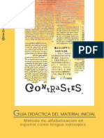 Español para inmigrantes.Método de alfabetización. Contrastes Nivel_Amarillo (inicial)