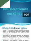 Difusão atómica em sólidos