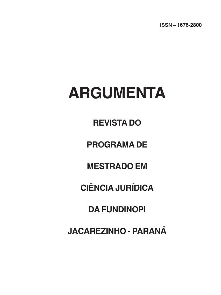 42319e8ff30ab Revista Argumenta Nº9 FUNDINOP