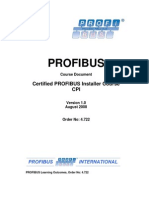 Profibus Certified Installer Syllabus