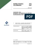 NTC 5387-2004. Selección de los métodos de usan -Kits- para análisis de agua