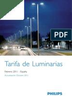 Tarifa Luminarias 2011 Actualizacion Octubre