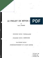Le projet de béton armé Thonier
