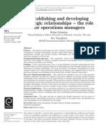 1793159 - Establishing and Developing Strategic Relationships