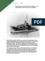 USS Hadley History