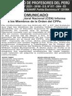 Comunicado Elecciones2013