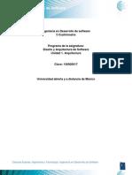 Diseño y Arquitectura de Software Unidad_1._Arquitectura