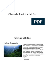 Clima de América del Sur