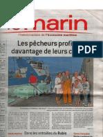 Le Marin - Les pêcheurs profitent davantage de leurs congés