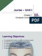 ITT Course – Unit I - Chapter 1 - Computer Concepts (50 Pages)