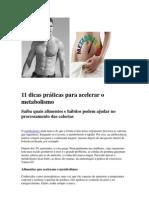 11 dicas práticas para acelerar o metabolismo