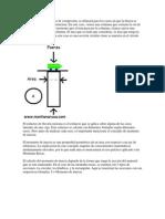 El cálculo de los esfuerzos de compresión