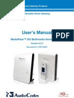 LTRT-23507 MP-252 User's Manual Ver. 3.4.3