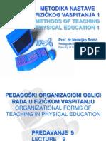 9 Pedagoski Organizacioni Oblici Rada u Fizickom Vaspitanju (2)
