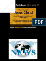 PDF Sermon Slides - The Gospel According to Jesus (Luke 4