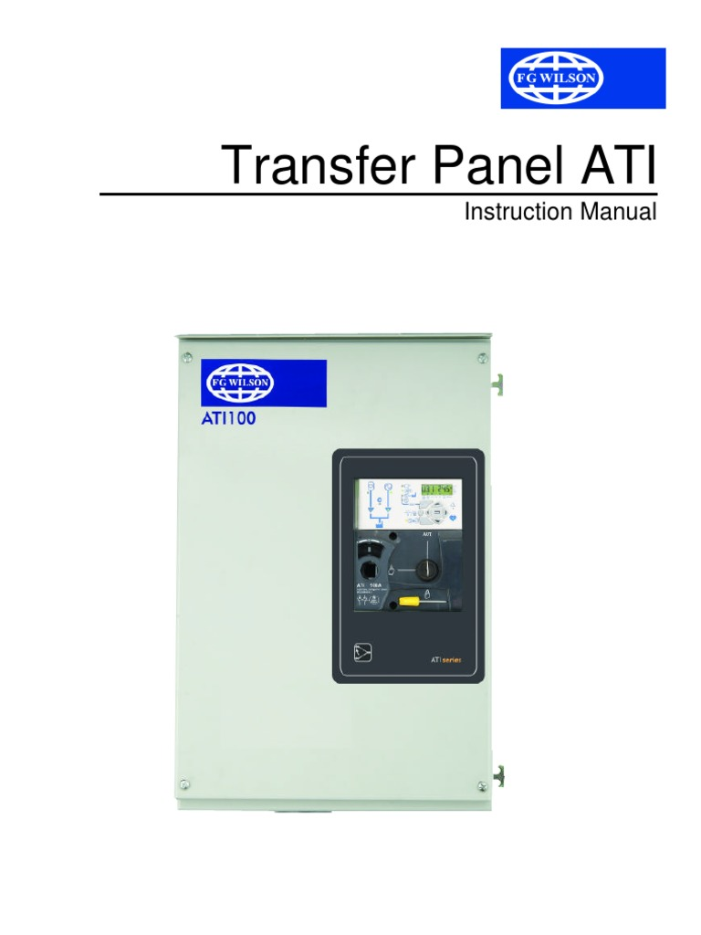Ati Transfer Switch Wiring Diagram Free For You Residential Instruction Manual Panel Mains Electricity Power Rh Pt Scribd Com A Reliance