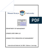 BBM 122 - PPM (Principles of management)