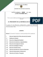 Decreto 4222 Del 23-11-06 Estructura Organica PONAL