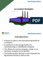 Facility Capacity and Location