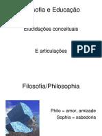 A definição filosófica de educação