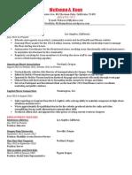 Resume for Lululemon