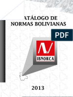 Catalogo Normas Bolivianas 2013
