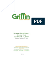 Revenue Status Report FY 2012-2013 - General Fund