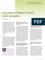 Early Brain Development Research Review