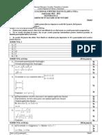 Model en 2013 Matematica Barem evalaurea nationala