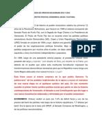 Logros Del Proceso Bolivariano 2011 y 2012