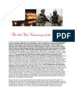 The 10th Year Anniversary of the Iraq War