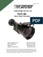Nsv-80 Manual Eng