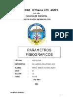 HIDROLOGIA PARAMETROS FISIOGRAFICOS