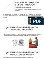 DECISIONES SOBRE EL DISEÑO DEL CANAL DE DISTRIBUCIÓN