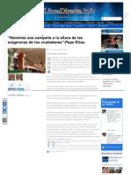 12-05-2013 Haremos una campaña a la altura de las exigencias de los ciudadanos. Pepe Elías
