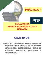Evaluacion Neuropsicologica de La Memoria