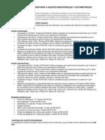 ANÁLISIS DE LABORATORIO A ACEITES INDUSTRIALES Y AUTOMOTRICES