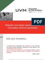 Relación proveedor salud-paciente | Conceptos teóricos generales