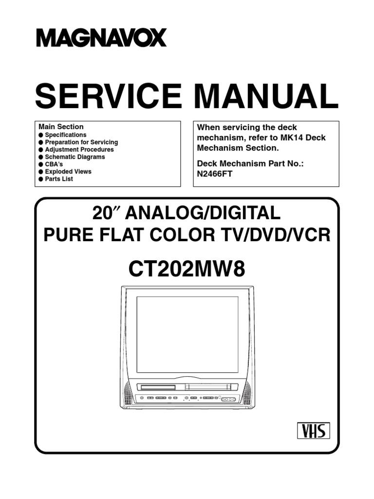 Swell Magnavox Dvd Vcr Wiring Diagram Wiring Diagram Wiring 101 Ferenstreekradiomeanderfmnl
