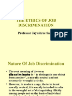 Business Ethics and Job Discrimination
