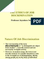 Business Ethics and Job Discrimination