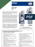 Extintores Acetato de Potasio