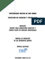 Manual Maquinas de La Planta Piloto