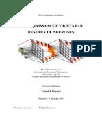 RECONNAISSANCE D'OBJETS PAR RESEAUX DE NEURONES